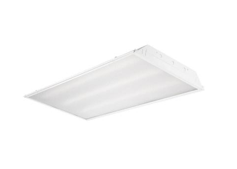 LED 3-Tube Recessed Ceiling White Troffer